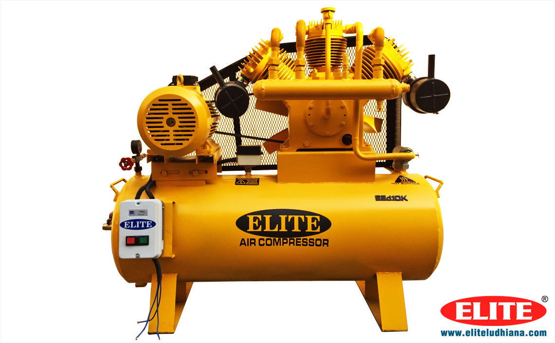 10HP Air Compressors Industrial Reciprocating Air Compressors Single Two Stage Air Compressor manufacturers exporters India Punjab Ludhiana