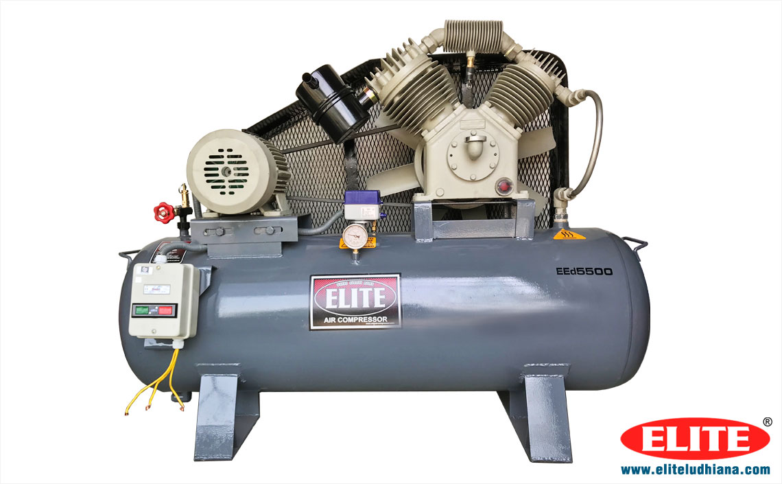 5HP Air Compressors Industrial Reciprocating Air Compressors Single Two Stage Air Compressor manufacturers exporters India Punjab Ludhiana