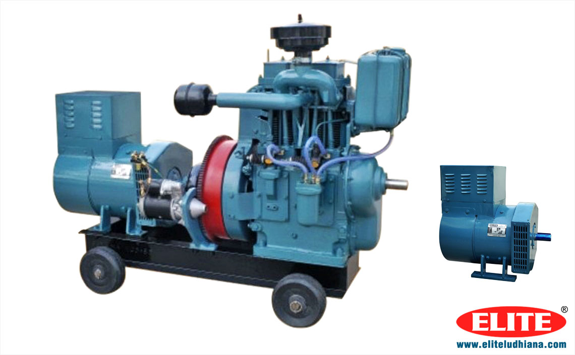 Diesel Engine Generators Air Water Cooled Generators Silent Generators Double Cylinder Electricity Generator manufacturers exporters India Punjab Ludhiana